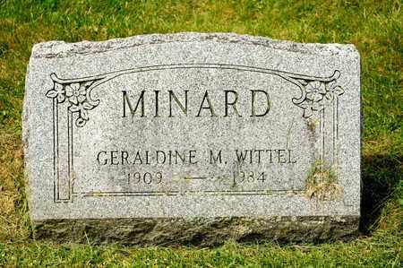 MINARD, GERALDINE M - Richland County, Ohio | GERALDINE M MINARD - Ohio Gravestone Photos