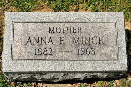MINCK, ANNA E - Richland County, Ohio | ANNA E MINCK - Ohio Gravestone Photos