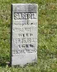 MOFFETT, SAREPTA - Richland County, Ohio | SAREPTA MOFFETT - Ohio Gravestone Photos