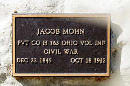 MOHN, JACOB - Richland County, Ohio | JACOB MOHN - Ohio Gravestone Photos