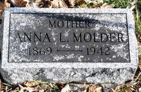 MOLDER, ANNA L - Richland County, Ohio | ANNA L MOLDER - Ohio Gravestone Photos