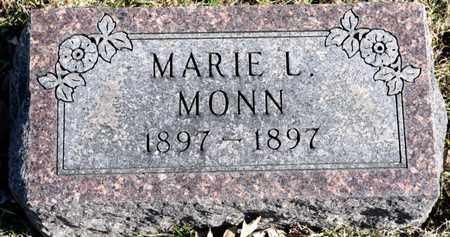 MONN, MARIE L - Richland County, Ohio | MARIE L MONN - Ohio Gravestone Photos