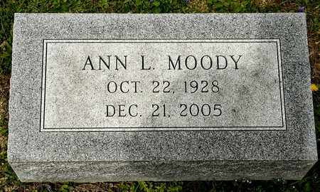 MOODY, ANN L - Richland County, Ohio | ANN L MOODY - Ohio Gravestone Photos