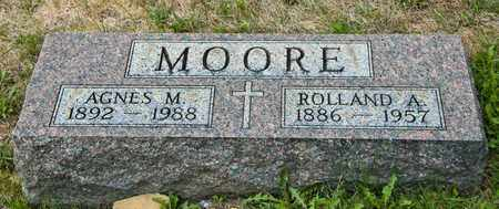 MOORE, ROLLAND A - Richland County, Ohio | ROLLAND A MOORE - Ohio Gravestone Photos