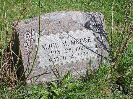 MOORE, ALICE M. - Richland County, Ohio | ALICE M. MOORE - Ohio Gravestone Photos