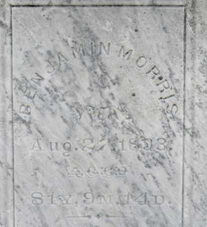 MORRIS, BENJAMIN - Richland County, Ohio | BENJAMIN MORRIS - Ohio Gravestone Photos