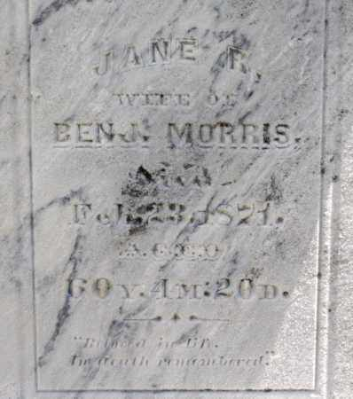 BLACK MORRIS, JANE ROBIN - Richland County, Ohio | JANE ROBIN BLACK MORRIS - Ohio Gravestone Photos
