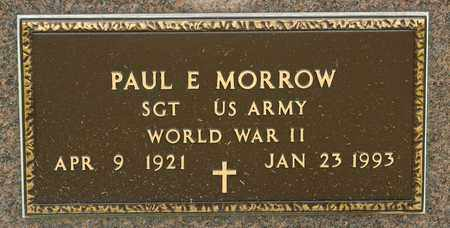 MORROW, PAUL E - Richland County, Ohio | PAUL E MORROW - Ohio Gravestone Photos
