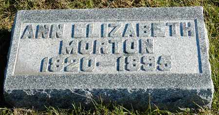 MORTON, ANN ELIZABETH - Richland County, Ohio | ANN ELIZABETH MORTON - Ohio Gravestone Photos