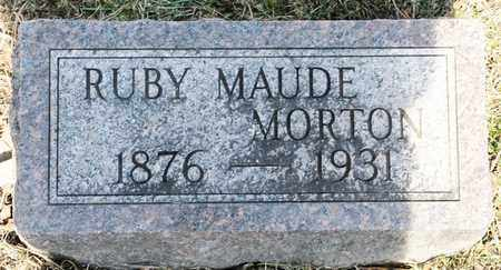 MORTON, RUBY MAUDE - Richland County, Ohio | RUBY MAUDE MORTON - Ohio Gravestone Photos