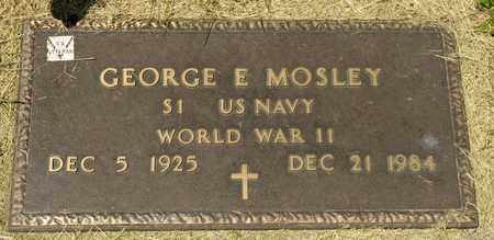 MOSELY, GEORGE E - Richland County, Ohio | GEORGE E MOSELY - Ohio Gravestone Photos