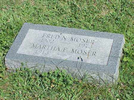 MOSER, MARTHA F. - Richland County, Ohio | MARTHA F. MOSER - Ohio Gravestone Photos