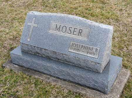 MOSER, JOSEPHINE B - Richland County, Ohio | JOSEPHINE B MOSER - Ohio Gravestone Photos