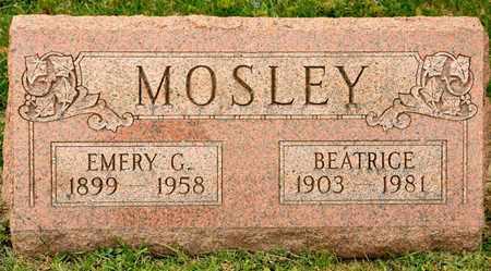 MOSLEY, EMERY G - Richland County, Ohio | EMERY G MOSLEY - Ohio Gravestone Photos