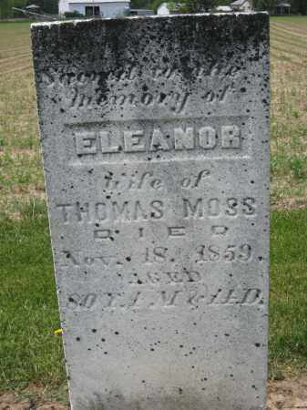 MOSS, ELEANOR - Richland County, Ohio | ELEANOR MOSS - Ohio Gravestone Photos