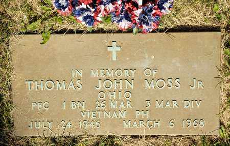 MOSS JR, THOMAS JOHN - Richland County, Ohio | THOMAS JOHN MOSS JR - Ohio Gravestone Photos