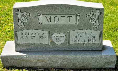 MOTT, BETH A - Richland County, Ohio | BETH A MOTT - Ohio Gravestone Photos