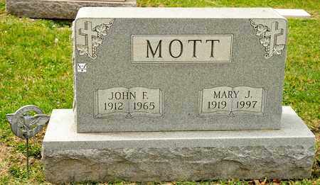MOTT, MARY J - Richland County, Ohio | MARY J MOTT - Ohio Gravestone Photos
