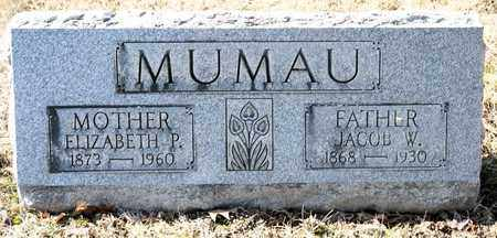 MUMAU, JACOB W - Richland County, Ohio | JACOB W MUMAU - Ohio Gravestone Photos