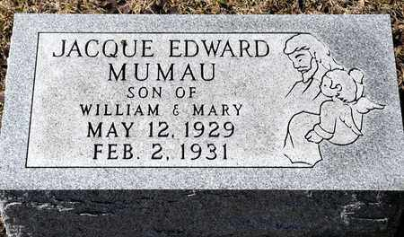 MUMAU, JACQUE EDWARD - Richland County, Ohio | JACQUE EDWARD MUMAU - Ohio Gravestone Photos