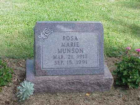 MUNSON, ROSA MARIE - Richland County, Ohio | ROSA MARIE MUNSON - Ohio Gravestone Photos