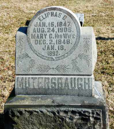 MUTERSBAUGH, ELIPHAS D - Richland County, Ohio | ELIPHAS D MUTERSBAUGH - Ohio Gravestone Photos
