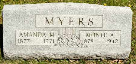 MYERS, MONTE A - Richland County, Ohio | MONTE A MYERS - Ohio Gravestone Photos