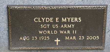 MYERS, CLYDE E - Richland County, Ohio | CLYDE E MYERS - Ohio Gravestone Photos