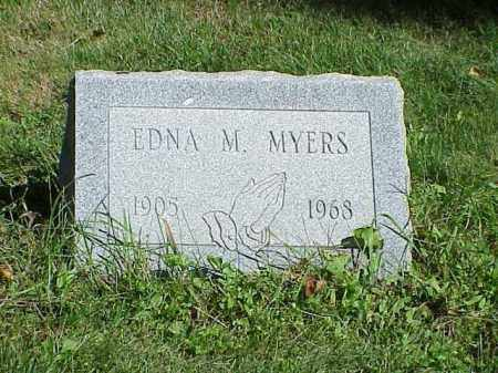 MYERS, EDNA M. - Richland County, Ohio | EDNA M. MYERS - Ohio Gravestone Photos