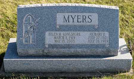 MYERS, RICHARD E - Richland County, Ohio | RICHARD E MYERS - Ohio Gravestone Photos