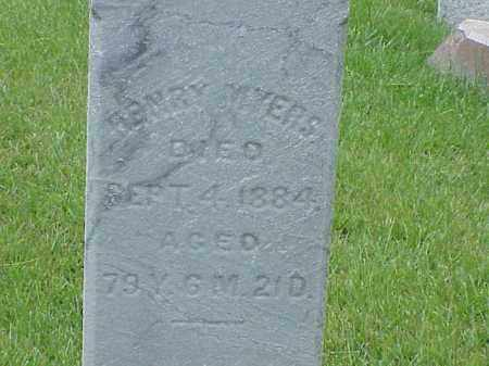 MYERS, HENRY - Richland County, Ohio | HENRY MYERS - Ohio Gravestone Photos