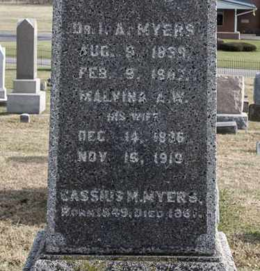MYERS, MALVINA A W - Richland County, Ohio | MALVINA A W MYERS - Ohio Gravestone Photos