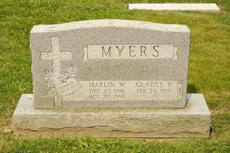 MYERS, MARLIN W - Richland County, Ohio | MARLIN W MYERS - Ohio Gravestone Photos