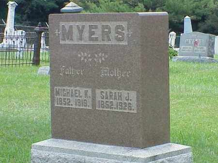 MYERS, SARAH J. - Richland County, Ohio | SARAH J. MYERS - Ohio Gravestone Photos