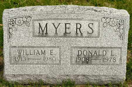 MYERS, WILLIAM E - Richland County, Ohio | WILLIAM E MYERS - Ohio Gravestone Photos