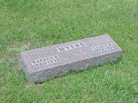 MYERS, WARREN B. - Richland County, Ohio | WARREN B. MYERS - Ohio Gravestone Photos