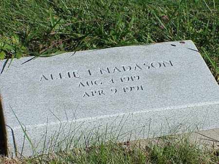 NADASON, ALLIE I. - Richland County, Ohio | ALLIE I. NADASON - Ohio Gravestone Photos