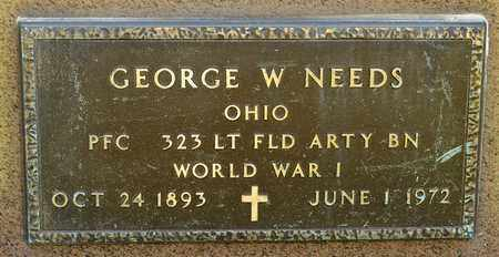 NEEDS, GEORGE W - Richland County, Ohio | GEORGE W NEEDS - Ohio Gravestone Photos