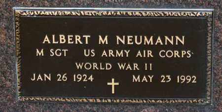 NEUMANN, ALBERT M - Richland County, Ohio | ALBERT M NEUMANN - Ohio Gravestone Photos