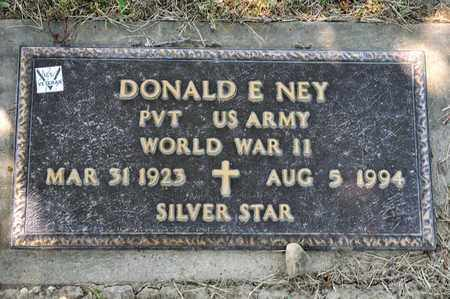 NEY, DONALD E - Richland County, Ohio | DONALD E NEY - Ohio Gravestone Photos