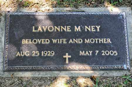 NEY, LAVONNE M - Richland County, Ohio | LAVONNE M NEY - Ohio Gravestone Photos