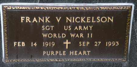 NICKELSON, FRANK V - Richland County, Ohio | FRANK V NICKELSON - Ohio Gravestone Photos