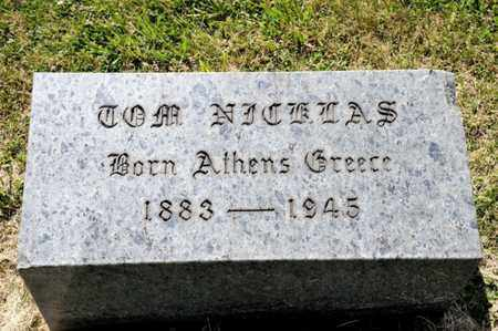 NICKLAS, TOM - Richland County, Ohio | TOM NICKLAS - Ohio Gravestone Photos
