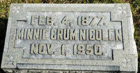 CRUM NICOLEN, MINNIE - Richland County, Ohio | MINNIE CRUM NICOLEN - Ohio Gravestone Photos