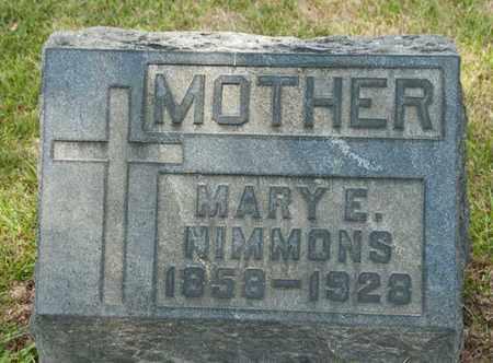 NIMMONS, MARY E - Richland County, Ohio | MARY E NIMMONS - Ohio Gravestone Photos