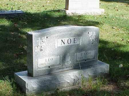 NOE, E. FAYE - Richland County, Ohio | E. FAYE NOE - Ohio Gravestone Photos