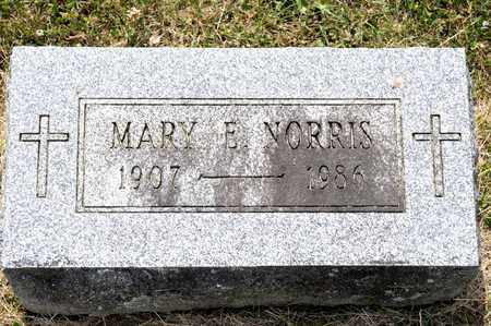 NORRIS, MARY E - Richland County, Ohio | MARY E NORRIS - Ohio Gravestone Photos