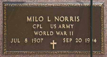 NORRIS, MILO L - Richland County, Ohio | MILO L NORRIS - Ohio Gravestone Photos