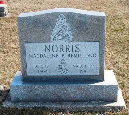 REMILLONG NORRIS, MAGDALENE B - Richland County, Ohio | MAGDALENE B REMILLONG NORRIS - Ohio Gravestone Photos