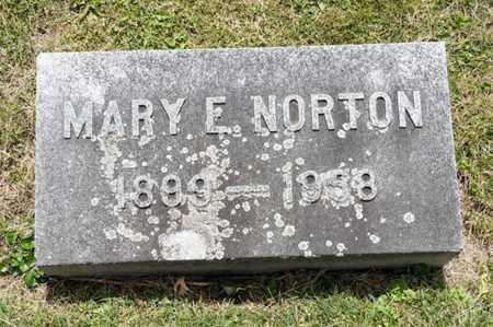 NORTON, MARY E - Richland County, Ohio | MARY E NORTON - Ohio Gravestone Photos